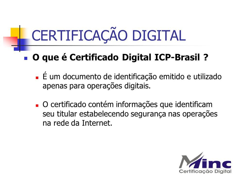 CERTIFICAÇÃO DIGITAL O que é Certificado Digital ICP-Brasil