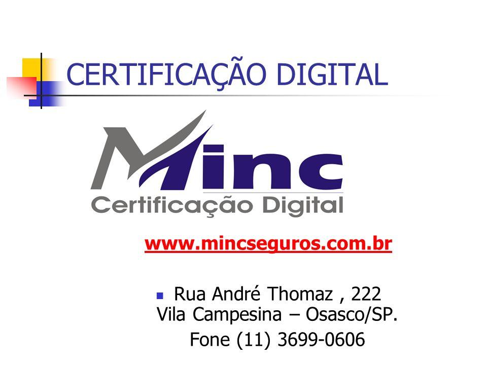 Rua André Thomaz , 222 Vila Campesina – Osasco/SP.