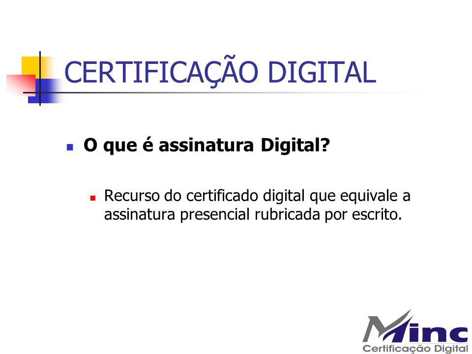 CERTIFICAÇÃO DIGITAL O que é assinatura Digital
