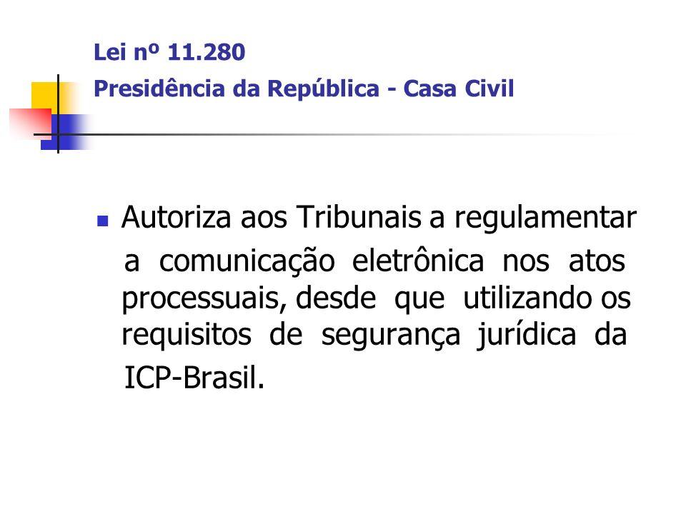 Lei nº 11.280 Presidência da República - Casa Civil