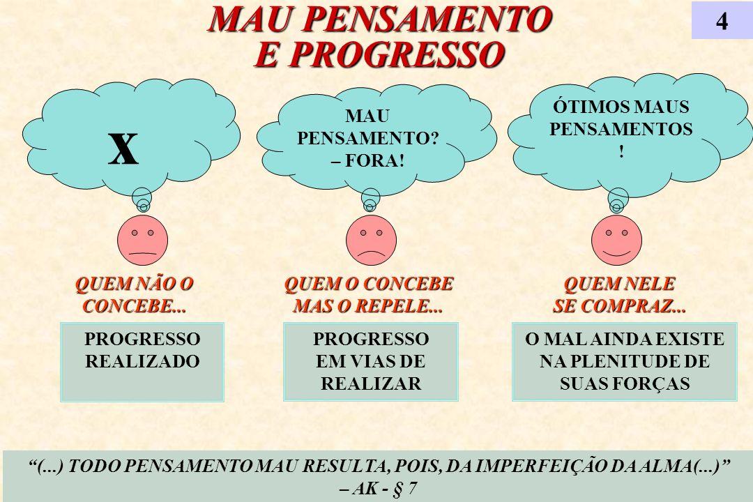 x MAU PENSAMENTO E PROGRESSO 4 ÓTIMOS MAUS PENSAMENTOS!