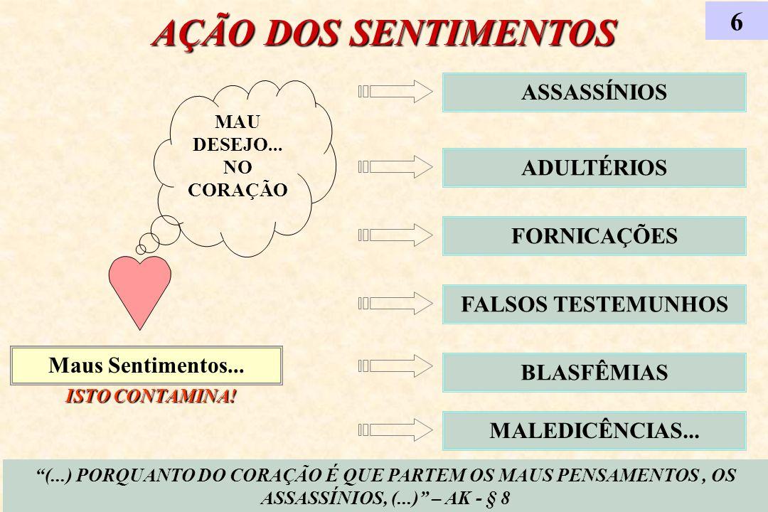 AÇÃO DOS SENTIMENTOS 6 ASSASSÍNIOS ADULTÉRIOS FORNICAÇÕES