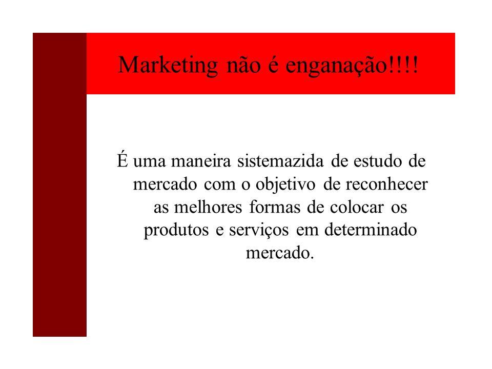 Marketing não é enganação!!!!