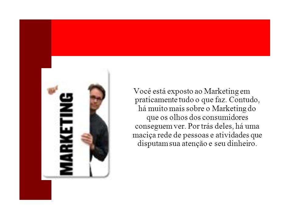 Você está exposto ao Marketing em praticamente tudo o que faz