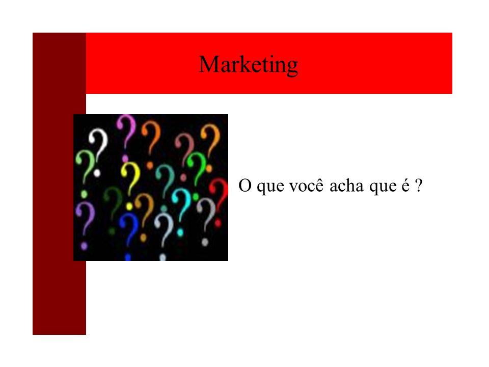 Marketing O que você acha que é