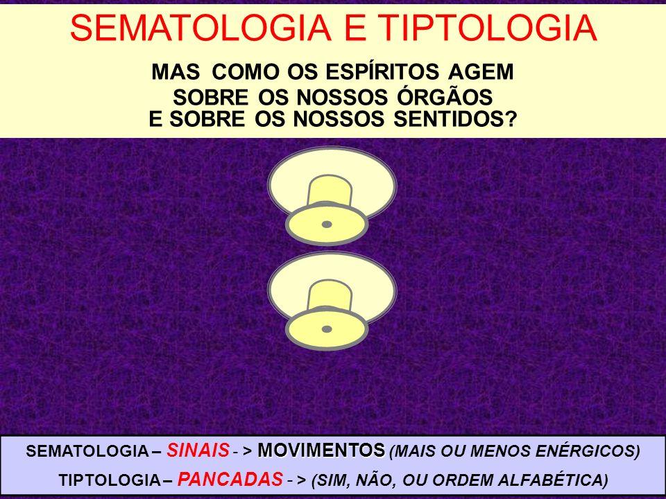 SEMATOLOGIA E TIPTOLOGIA MAS COMO OS ESPÍRITOS AGEM SOBRE OS NOSSOS ÓRGÃOS E SOBRE OS NOSSOS SENTIDOS