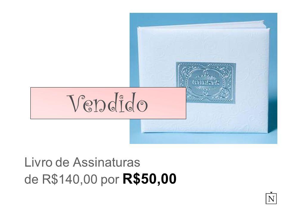 Livro de Assinaturas de R$140,00 por R$50,00