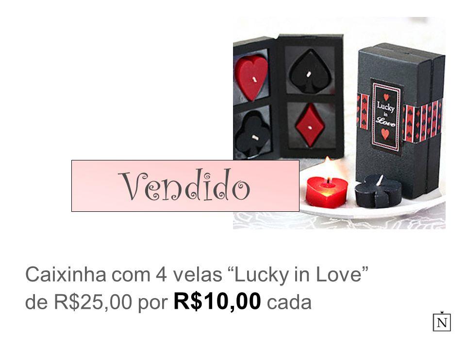 Caixinha com 4 velas Lucky in Love de R$25,00 por R$10,00 cada