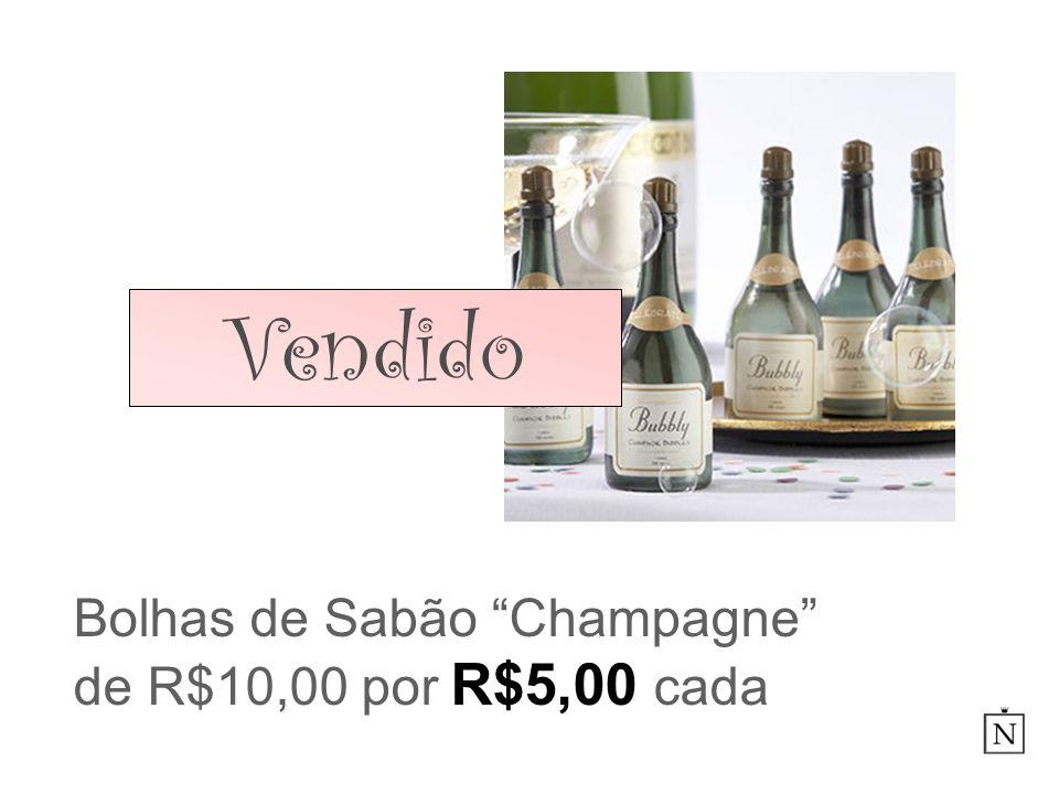 Bolhas de Sabão Champagne de R$10,00 por R$5,00 cada
