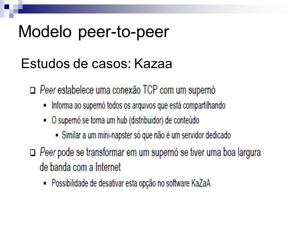 Modelo peer-to-peer Estudos de casos: Kazaa