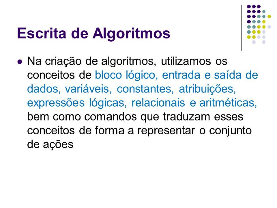 Escrita de Algoritmos