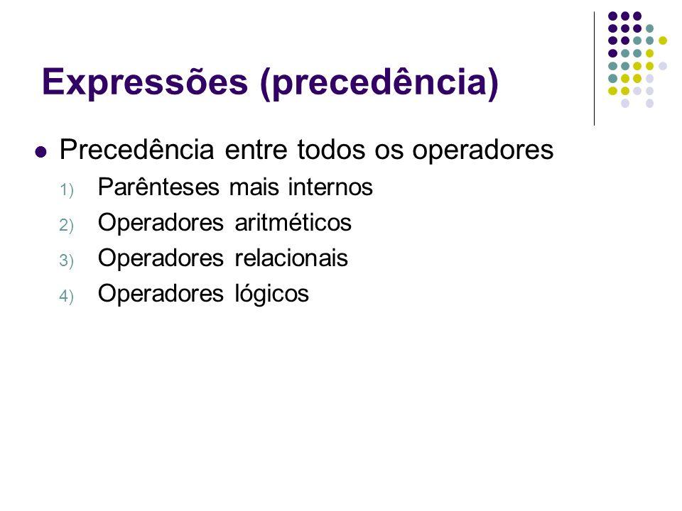 Expressões (precedência)