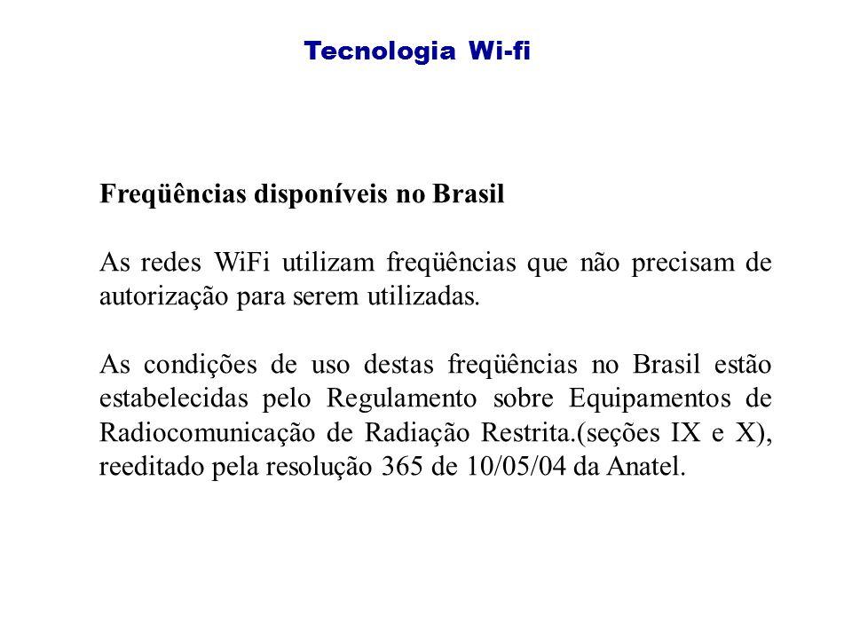 Freqüências disponíveis no Brasil