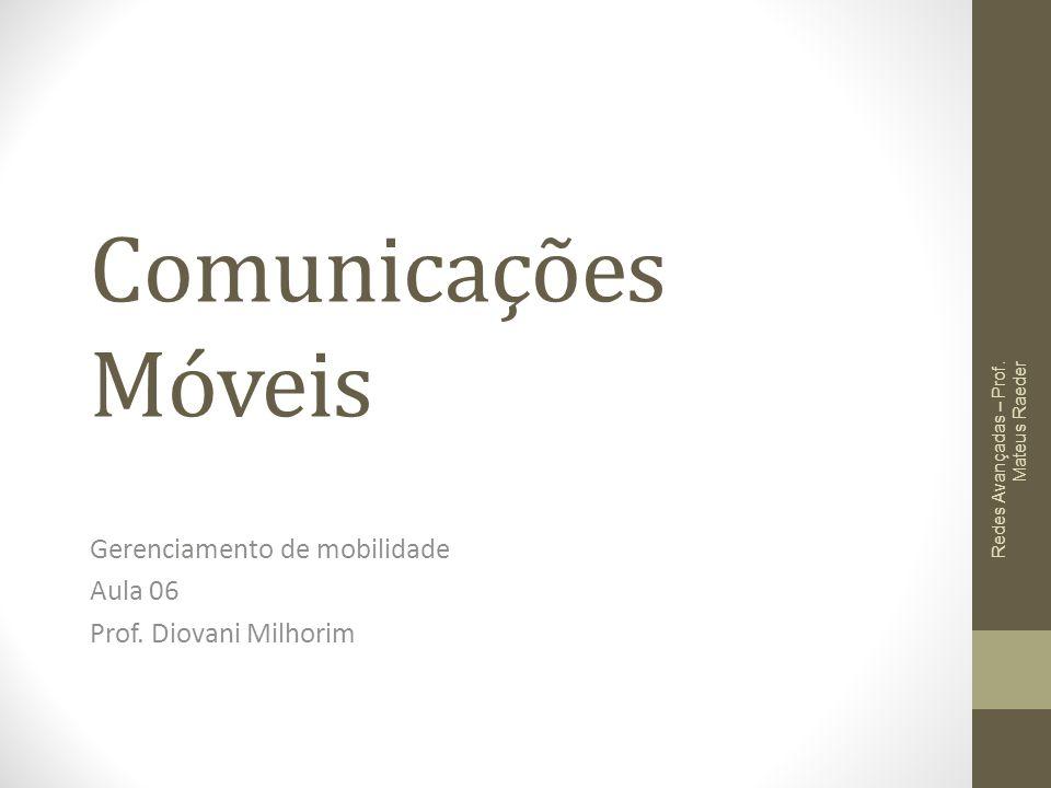 Gerenciamento de mobilidade Aula 06 Prof. Diovani Milhorim