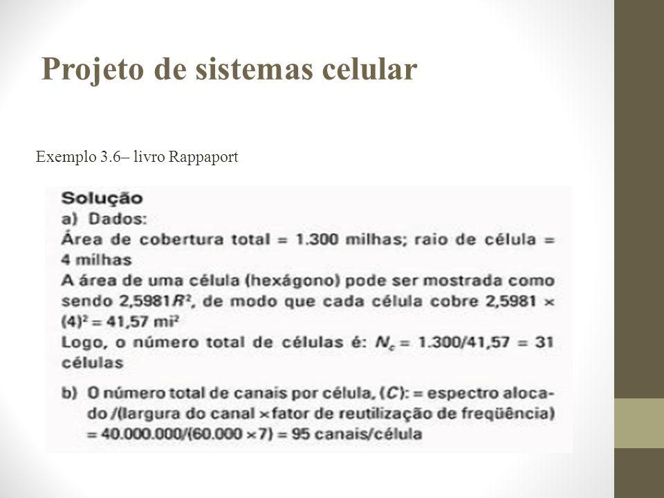 Projeto de sistemas celular