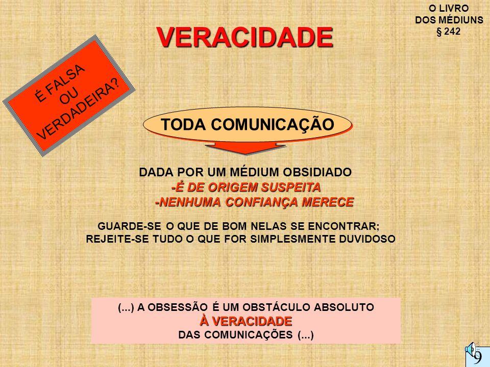 VERACIDADE 9 TODA COMUNICAÇÃO É FALSA VERDADEIRA OU