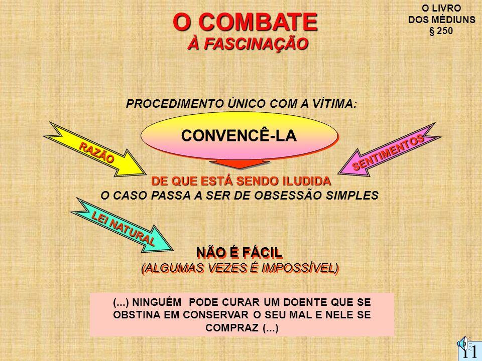 O COMBATE À FASCINAÇÃO 11 CONVENCÊ-LA NÃO É FÁCIL