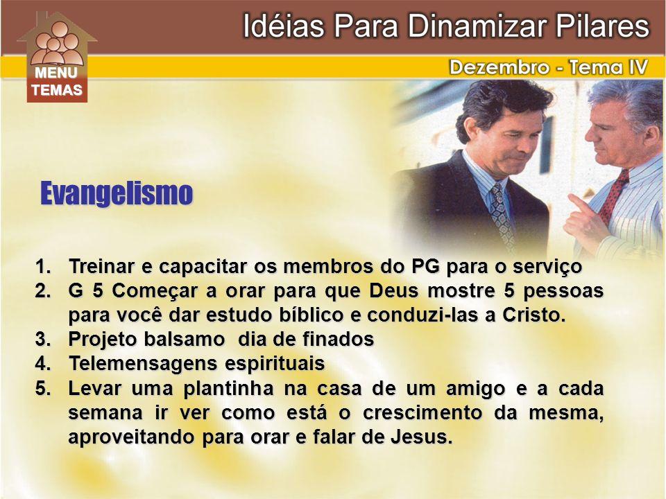 Evangelismo Treinar e capacitar os membros do PG para o serviço