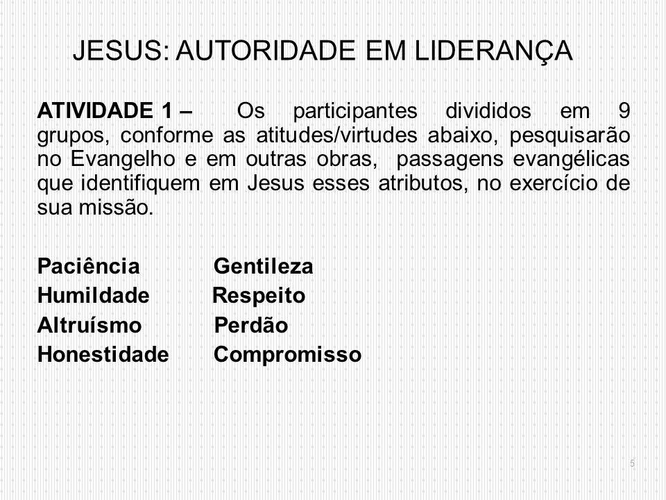 JESUS: AUTORIDADE EM LIDERANÇA