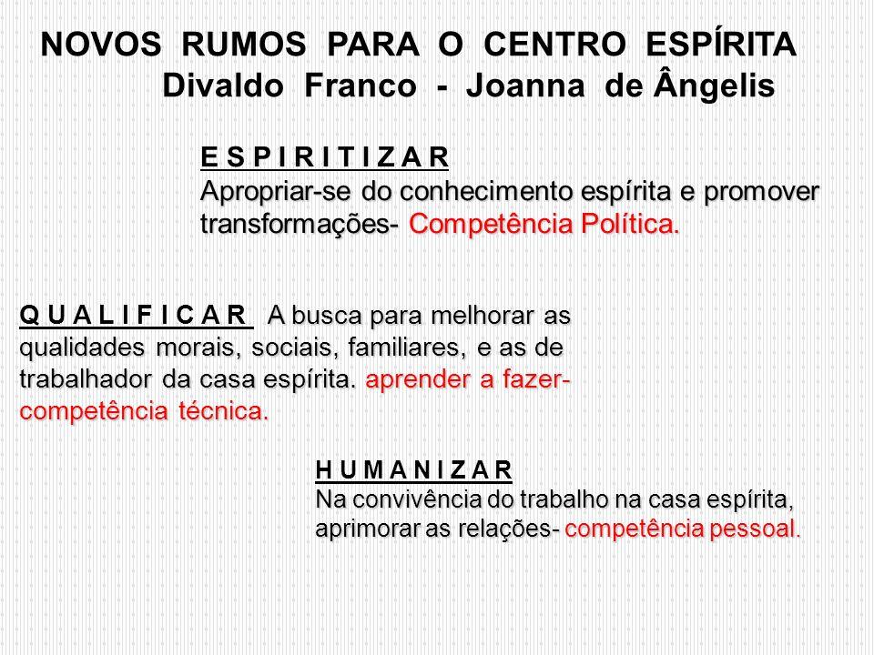 NOVOS RUMOS PARA O CENTRO ESPÍRITA Divaldo Franco - Joanna de Ângelis