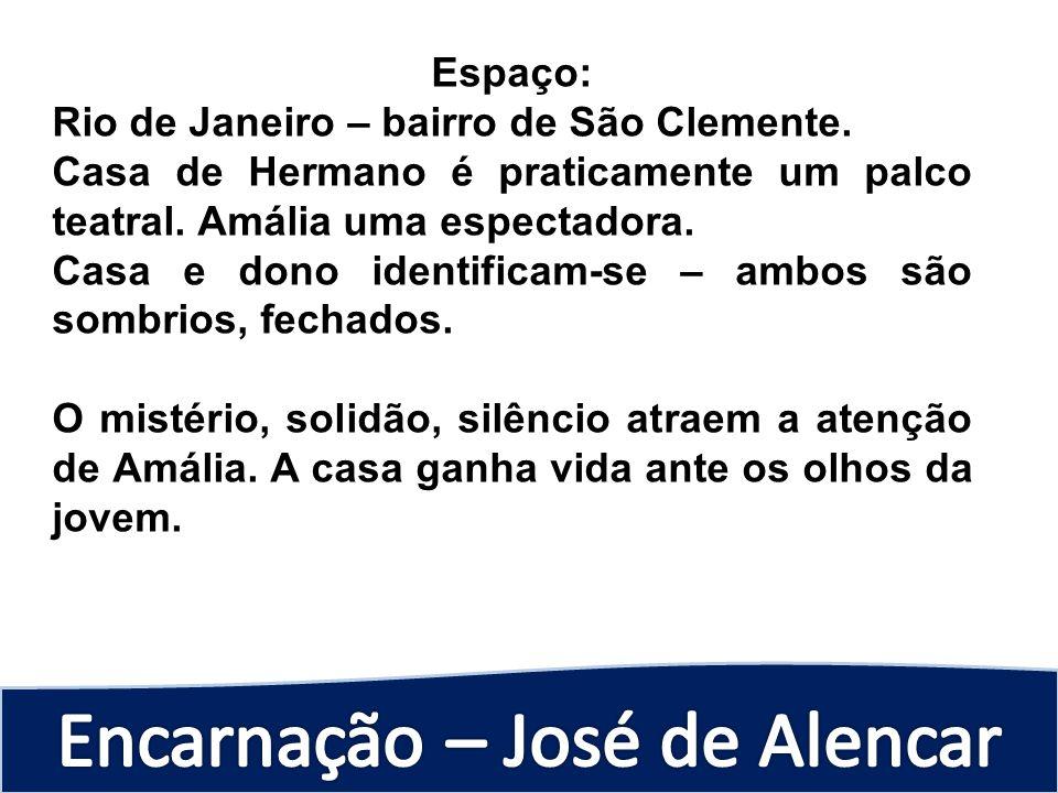 Espaço: Rio de Janeiro – bairro de São Clemente. Casa de Hermano é praticamente um palco teatral. Amália uma espectadora.