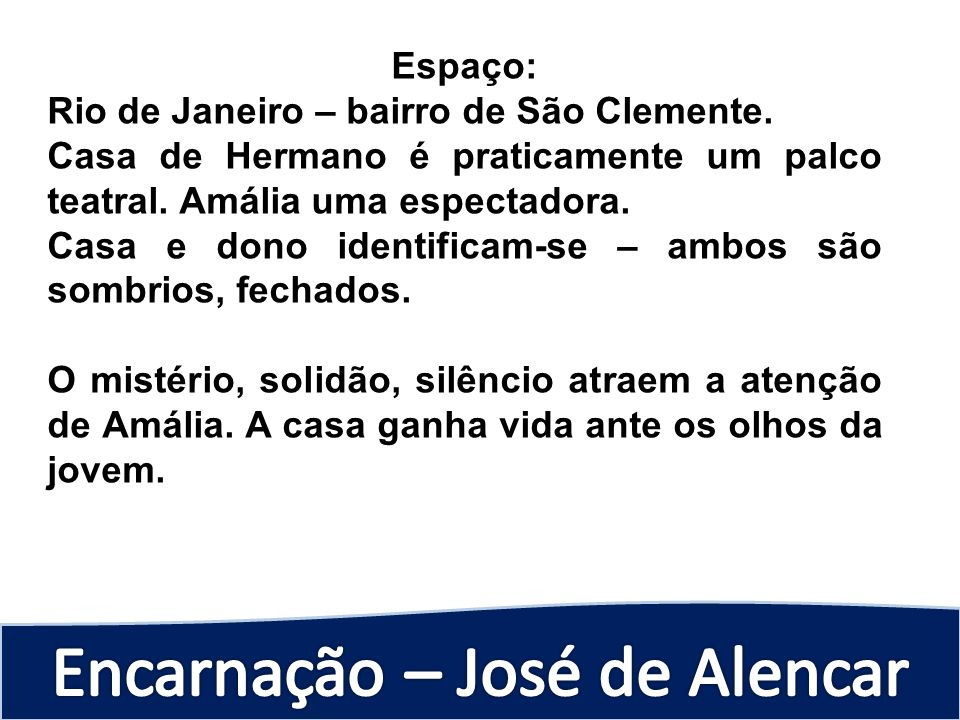 Espaço:Rio de Janeiro – bairro de São Clemente. Casa de Hermano é praticamente um palco teatral. Amália uma espectadora.