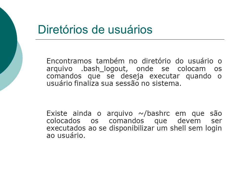 Diretórios de usuários