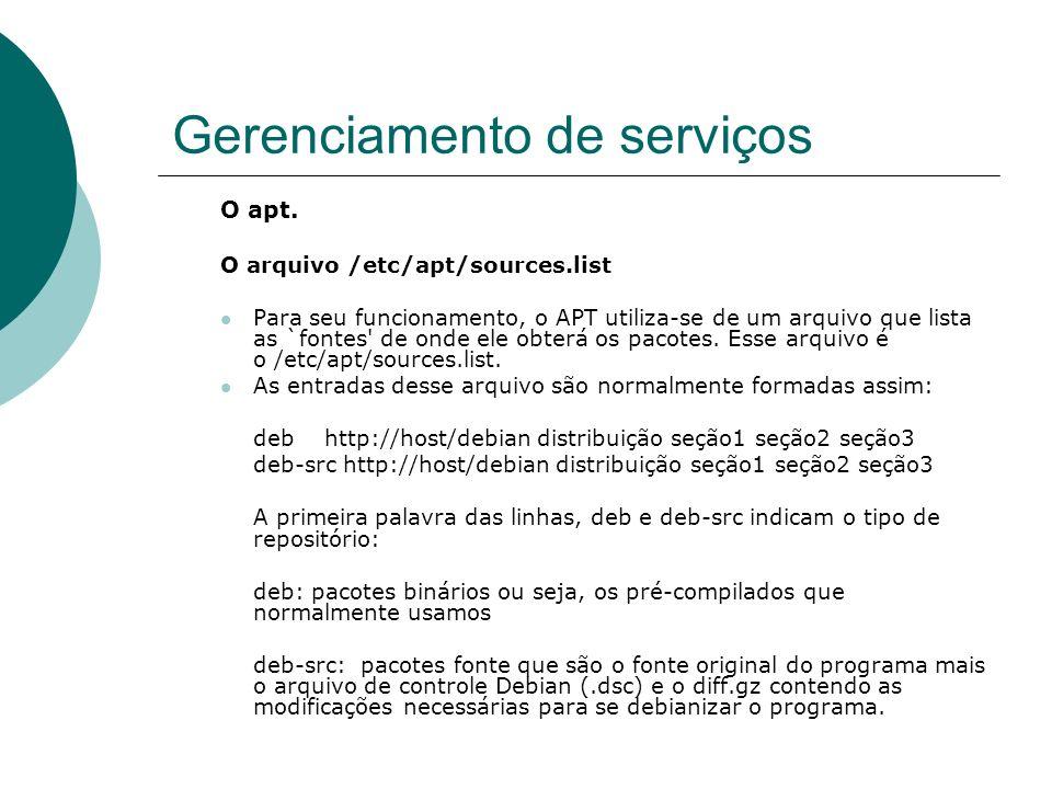 Gerenciamento de serviços
