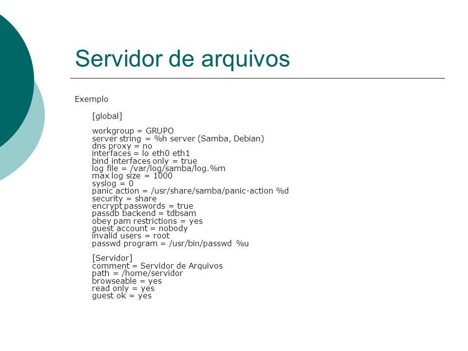 Servidor de arquivos Exemplo