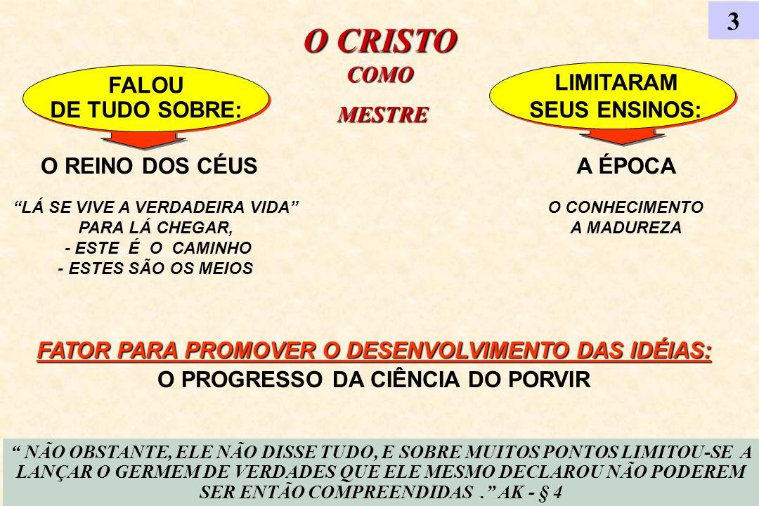 O CRISTO COMO 3 MESTRE DE TUDO SOBRE: SEUS ENSINOS: O REINO DOS CÉUS
