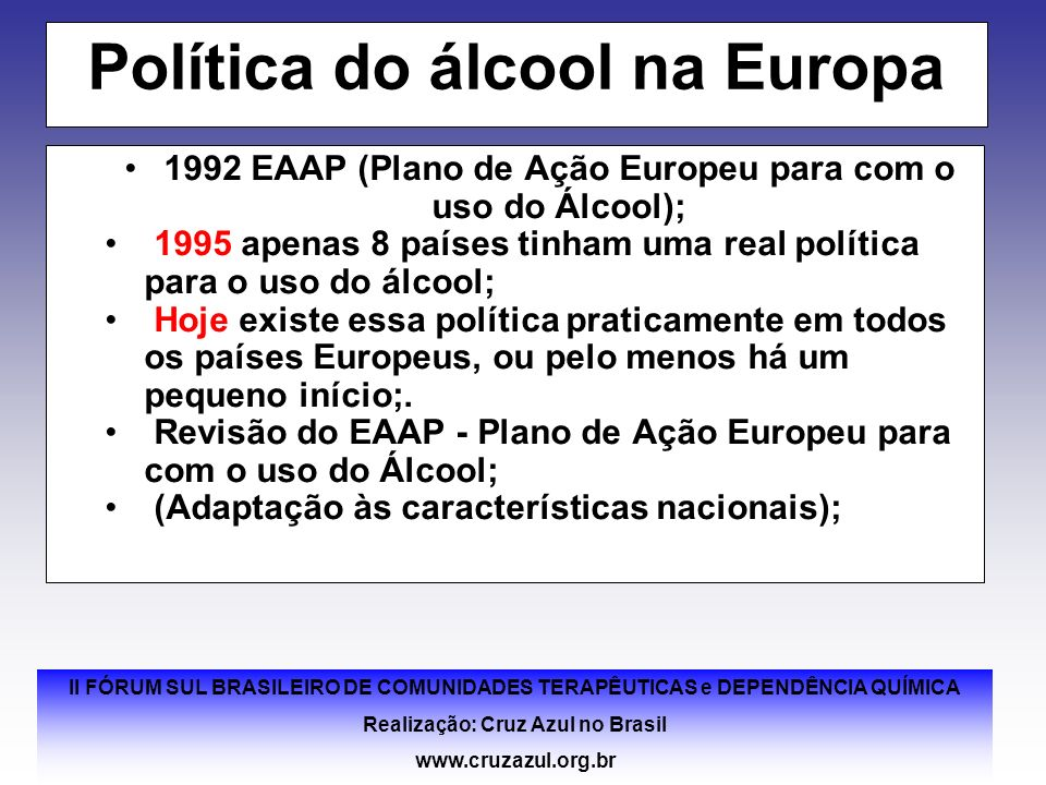 Política do álcool na Europa