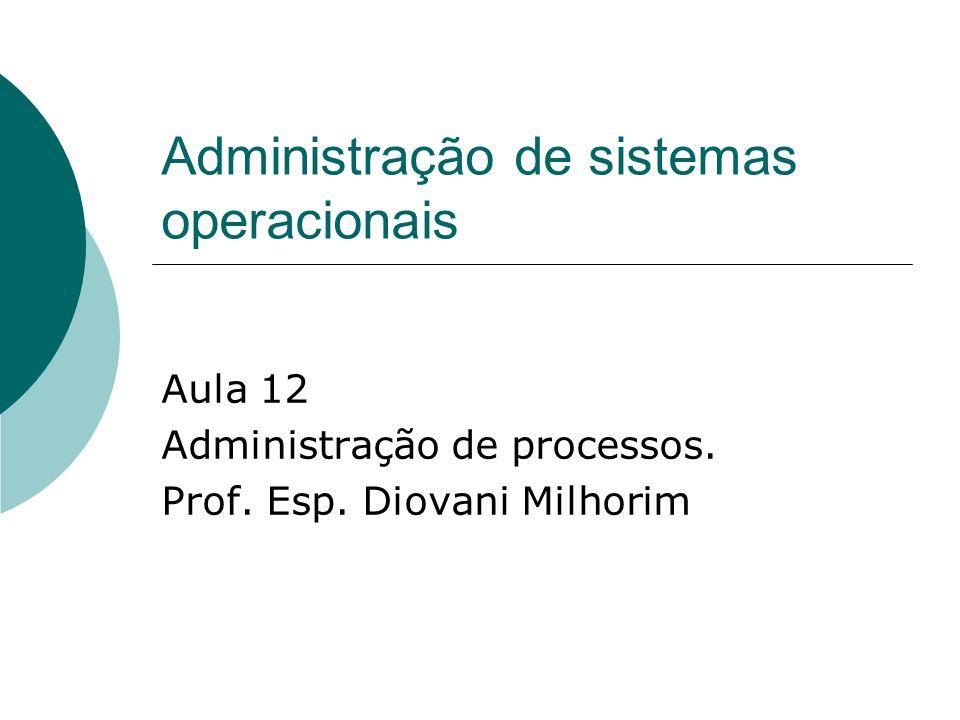 Administração de sistemas operacionais
