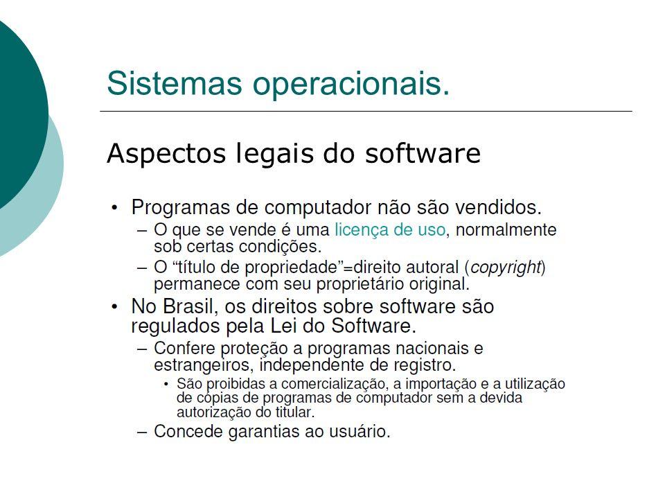 Sistemas operacionais.