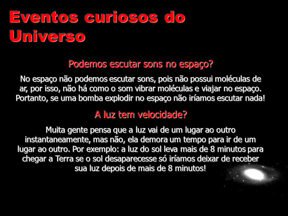 Eventos curiosos do Universo