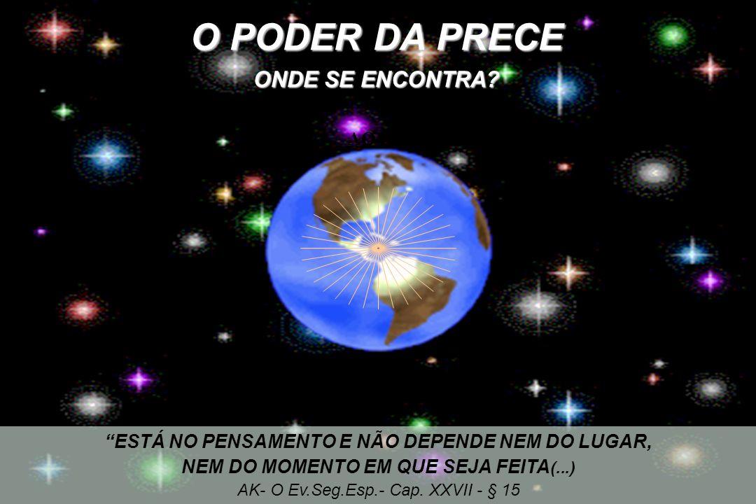 O PODER DA PRECE ONDE SE ENCONTRA