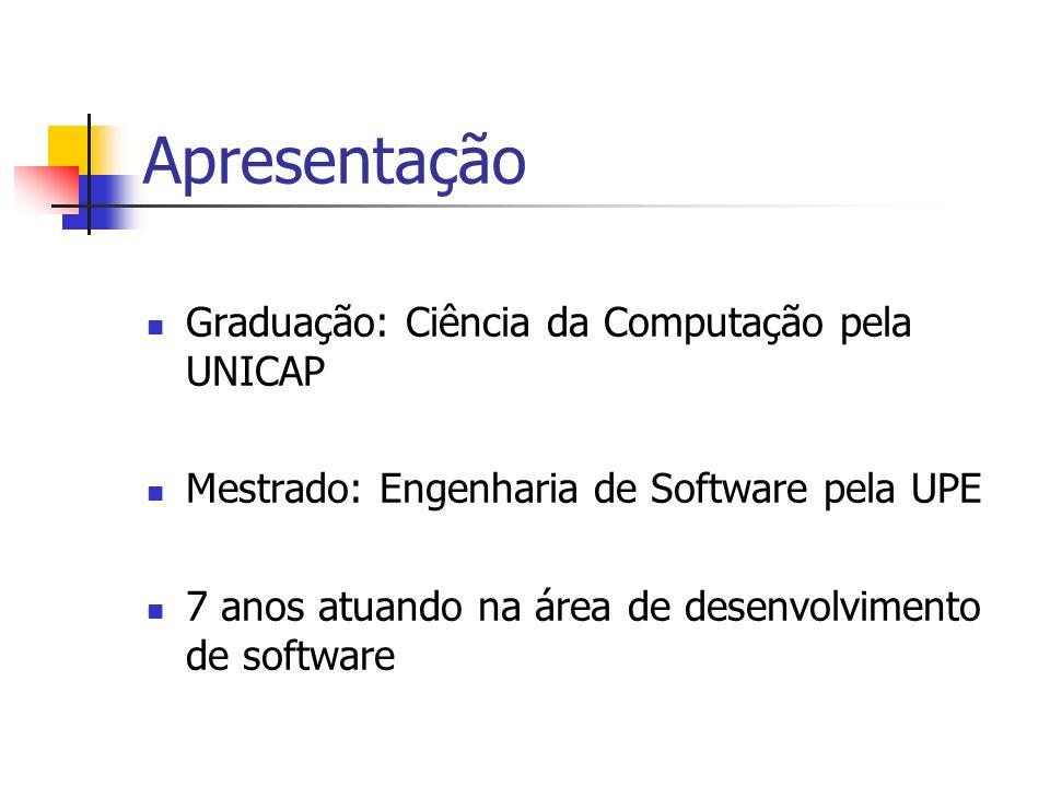 Apresentação Graduação: Ciência da Computação pela UNICAP