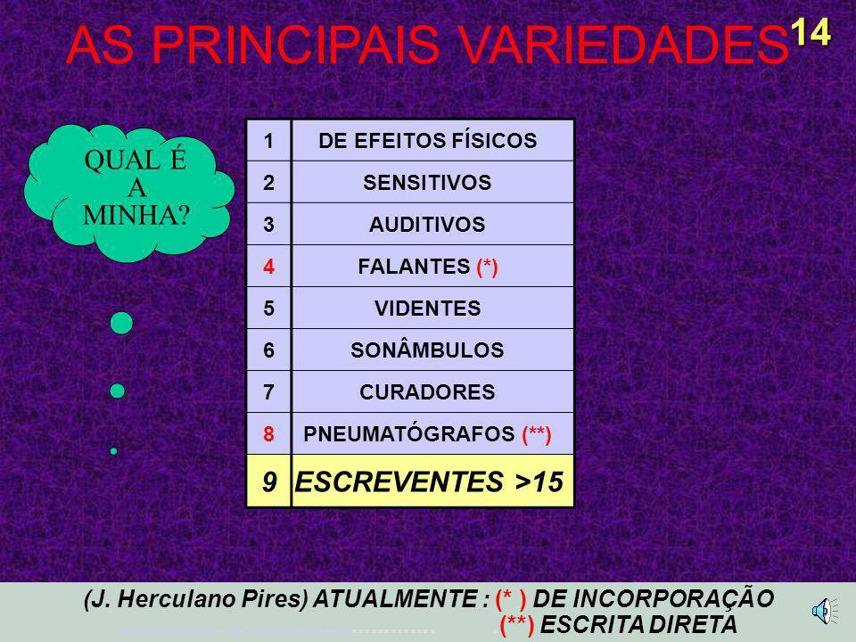 AS PRINCIPAIS VARIEDADES