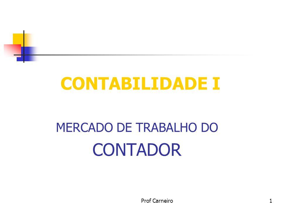 MERCADO DE TRABALHO DO CONTADOR