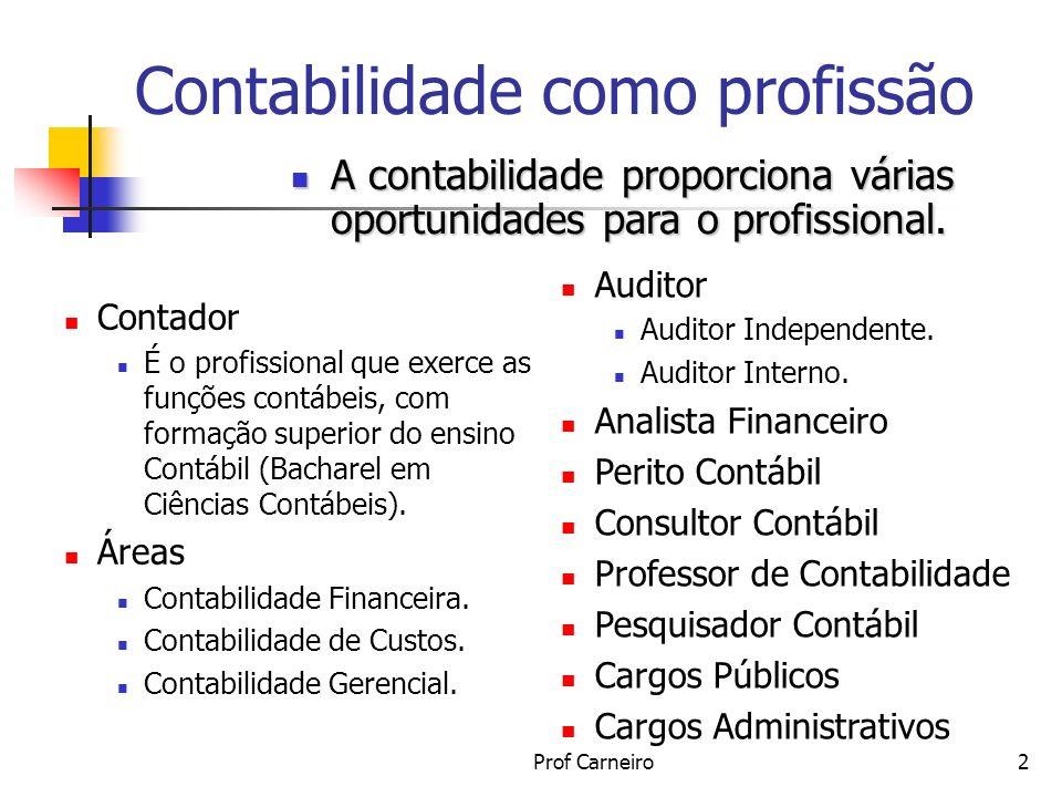 Contabilidade como profissão