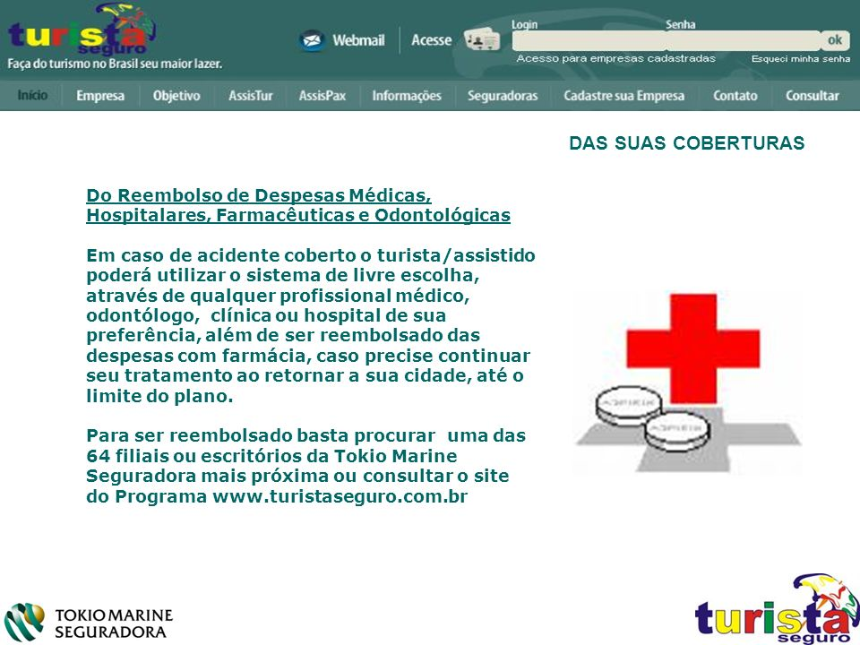 DAS SUAS COBERTURAS Do Reembolso de Despesas Médicas, Hospitalares, Farmacêuticas e Odontológicas.