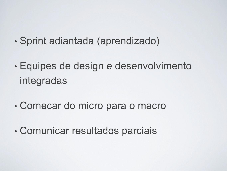 Sprint adiantada (aprendizado)