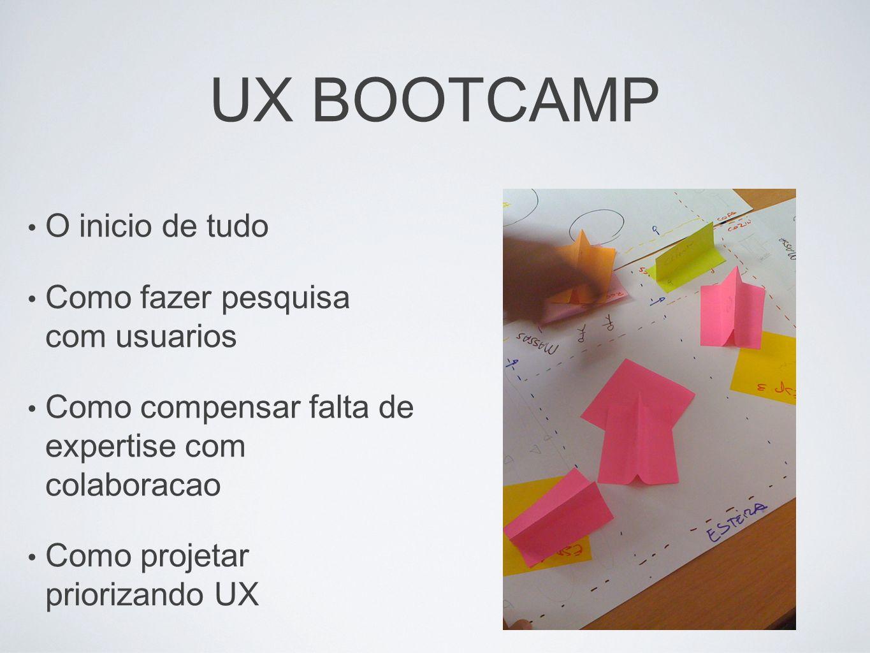 UX BOOTCAMP O inicio de tudo Como fazer pesquisa com usuarios