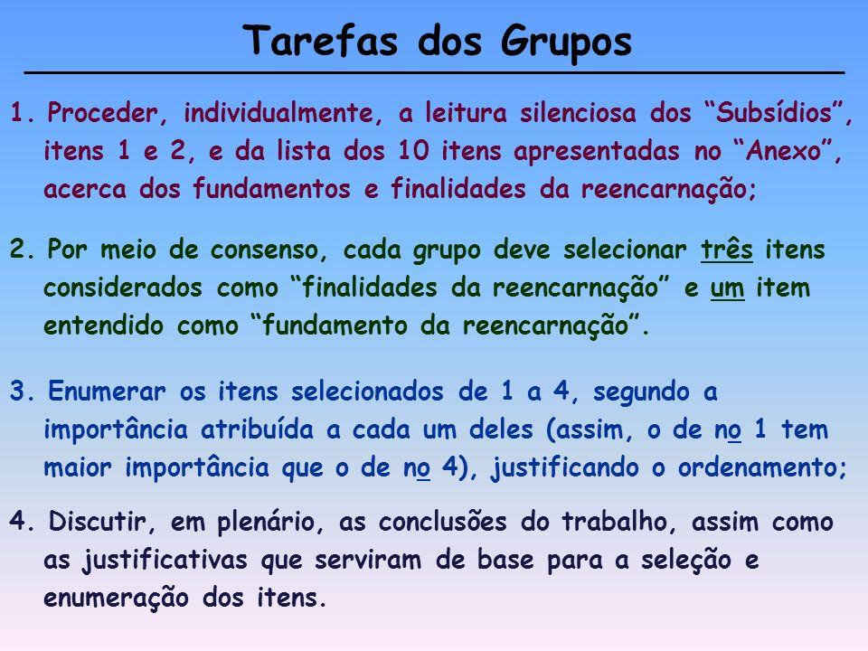 Tarefas dos Grupos