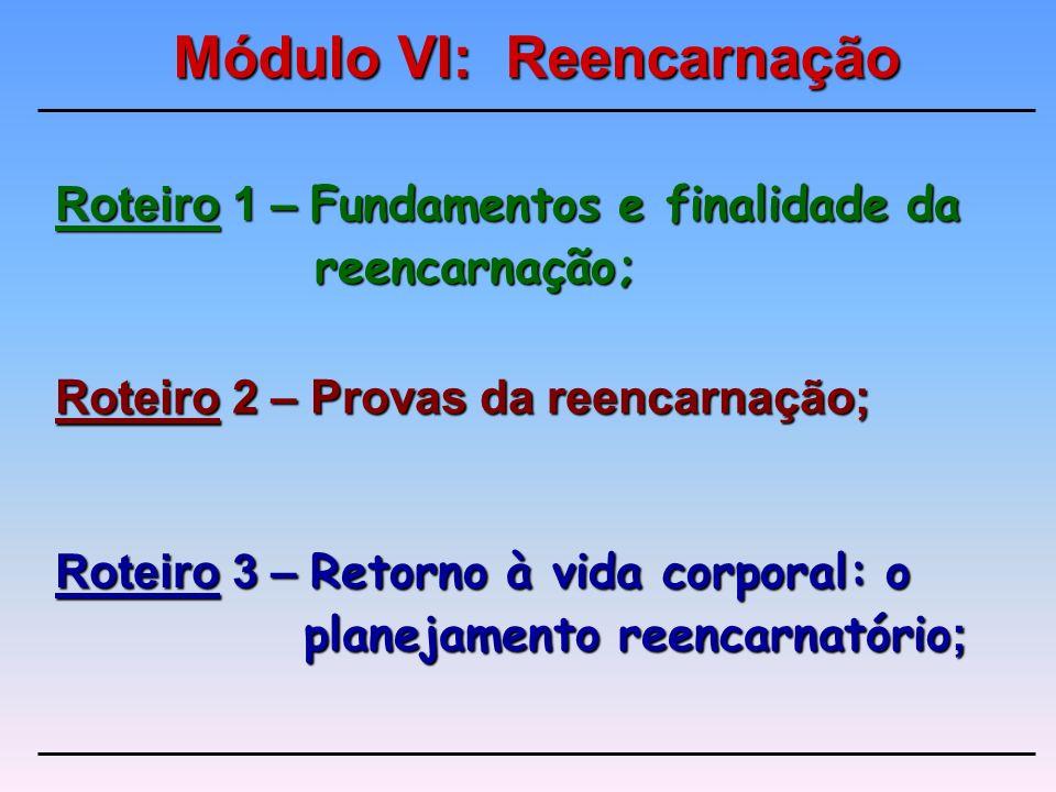 Roteiro 1 – Fundamentos e finalidade da reencarnação;