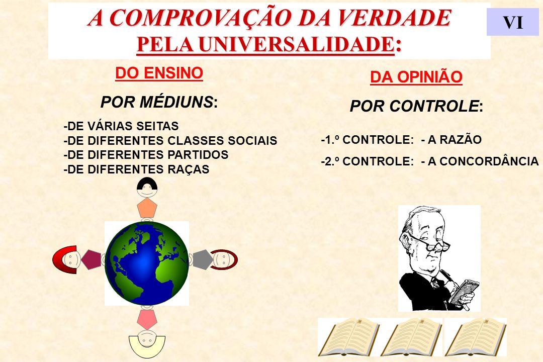 A COMPROVAÇÃO DA VERDADE PELA UNIVERSALIDADE: