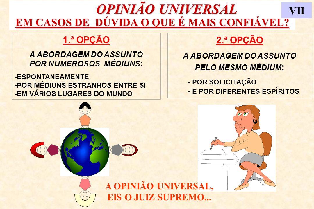 OPINIÃO UNIVERSAL EM CASOS DE DÚVIDA O QUE É MAIS CONFIÁVEL