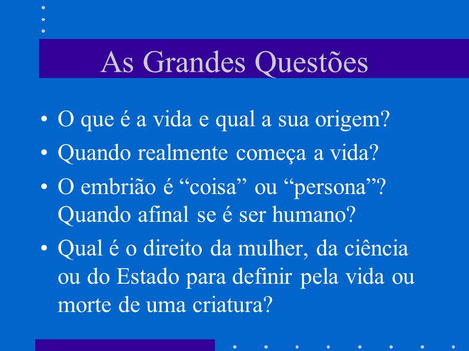 As Grandes Questões O que é a vida e qual a sua origem