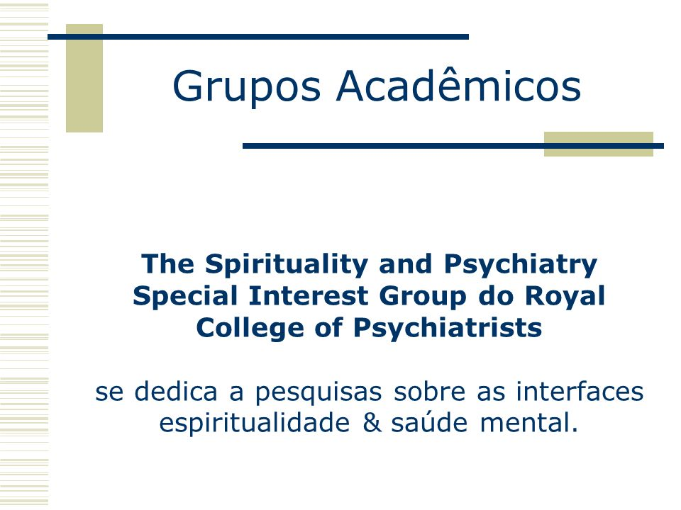 Grupos Acadêmicos
