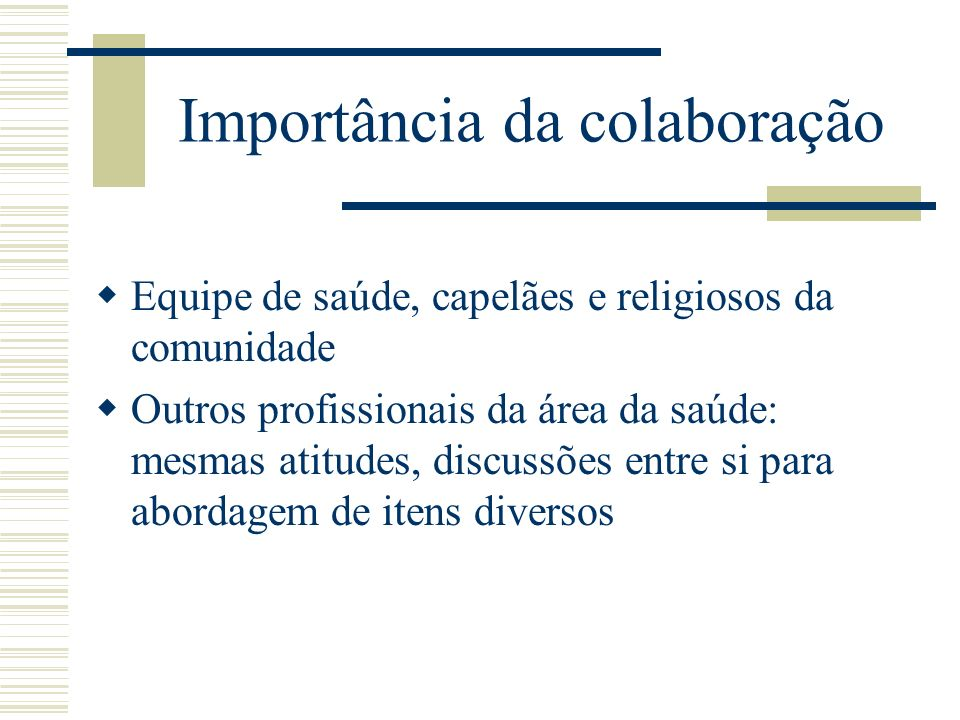 Importância da colaboração