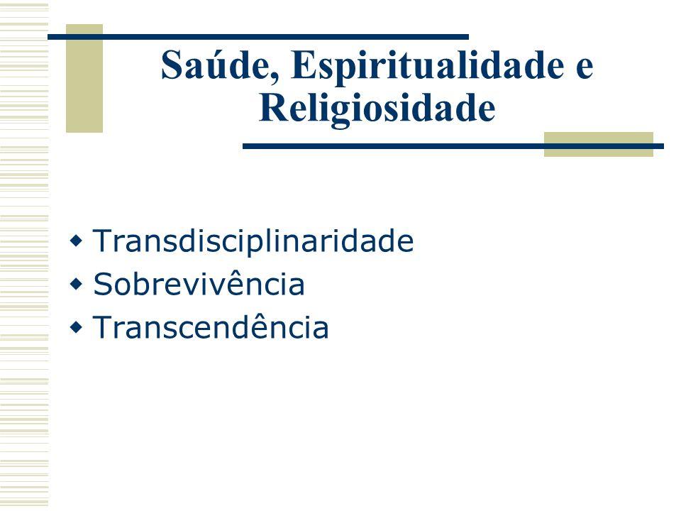 Saúde, Espiritualidade e Religiosidade